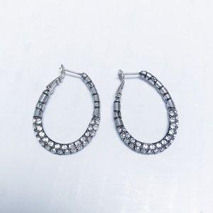 Brighton - Pave Hoop Earrings